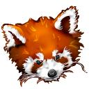 Firefox panda red icon