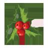 Christmas, , Mistletoe icon