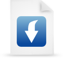 document, paper, file, blue icon