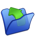 folder,blue,parent icon