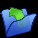 folder,blue,parent icon