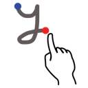 lowercase, gestureworks, letter, stroke, y icon