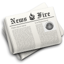 Fire, Hot, News, Newspaper icon