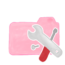 ak, folder, tools, candy icon