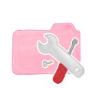 ak, folder, tools, candy icon