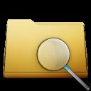 orange, seek, search, find, folder, try icon