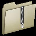 Lightbrown, Zip icon