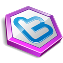 Purple, Shape, Twitter icon