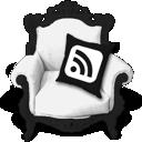 b&w, rss icon