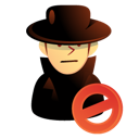 Hacker, Intruder, Killer, Thief, User icon