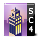 sims, square, building, simcity icon