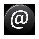 Address, Black icon