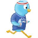 twitter, sport, jog, bird icon