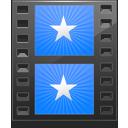 sidebar, folder, movie, film, blue, video icon