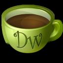 dreamweaver, coffee icon