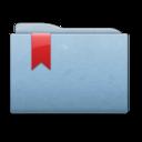 folder,blue,ribbon icon