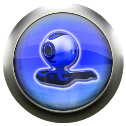 blue, webcam, cam icon
