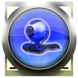 blue, webcam, cam icon