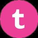 pink, social, round, tumblr, media icon