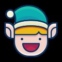 emoji, smile, smiley, emot, elf, happy icon