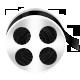 film roll, film, movie icon