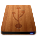 wooden, usb, slick, drive icon