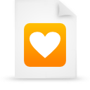 document, paper, orange, file icon