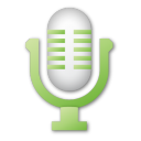 microphone, green, mic icon