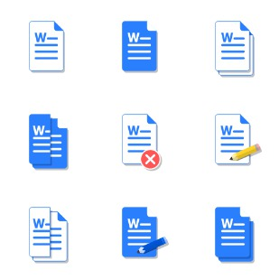 MS Word Docs icon sets preview