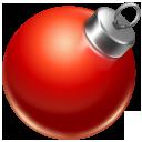 christmas, red, ball icon