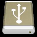 usb, drive, lightbrown, external icon