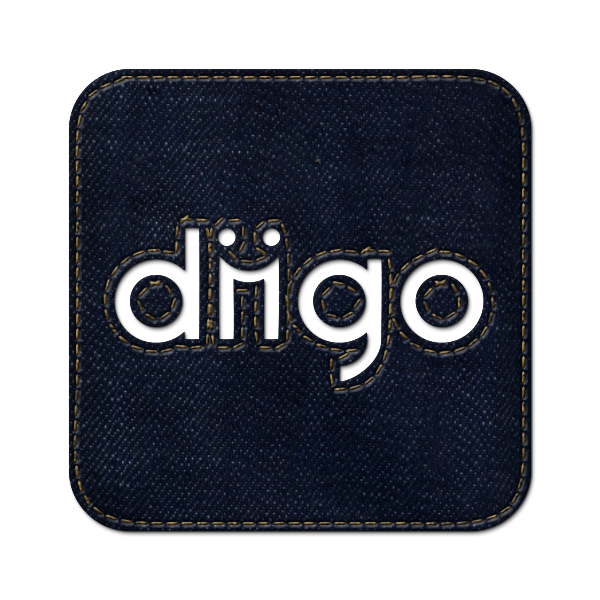 logo, social, denim, diigo, square, jean icon