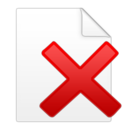 document,delete icon