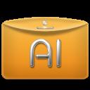 Folder Text Adobe Illustrator icon