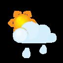 sun,lightcloud,rain icon