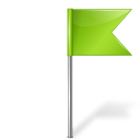 Map Marker Flag 4 Right Chartreuse icon