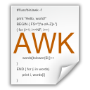 mimetypes application x awk icon