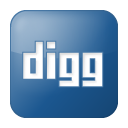 Blue, Box, Digg, Social icon