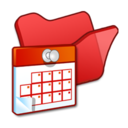 folder,red,scheduled icon