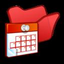 folder,red,scheduled icon