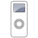 white, nano, ipod icon