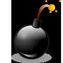 bomb, hot icon