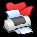 Folder red printer icon