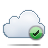 cloud, check icon