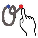 greek, gestureworks, theta, stroke icon