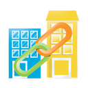 building, marketing, business, web, seo, linking, internet, google, connection icon