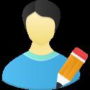 Male user edit icon