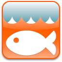 fish, animal icon