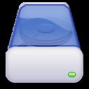 hard, blue, drive icon