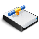 drive, disk, network icon